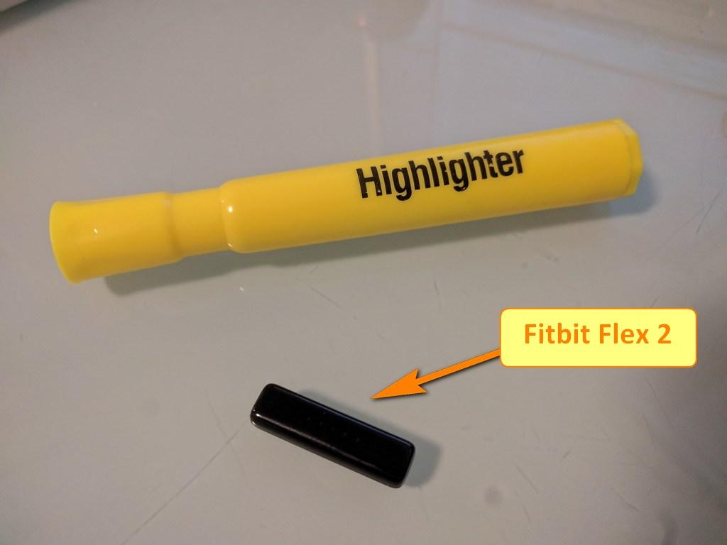 fitbit flex 2 actual size