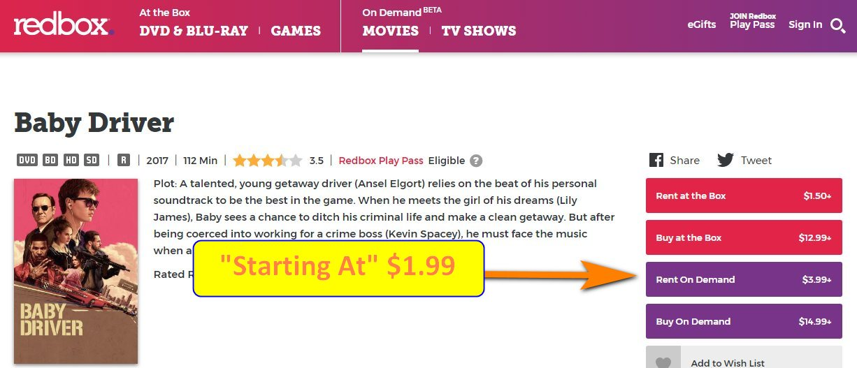 redbox on demand review pricing